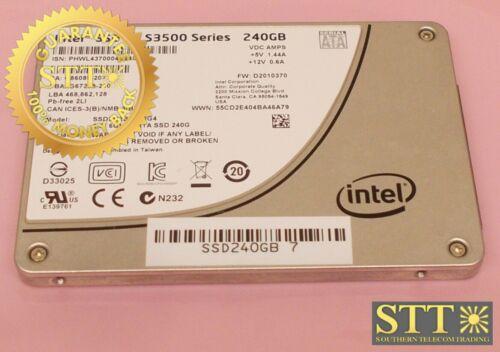 Ssdsc2bb240g4 Intel Dc S3500 Series 240gb 6gb/s Sata Solid State Drive 2.5 Inch