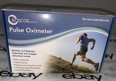 Finger Pulse Oximeter By Roscoe O2 Monitor Oxygen Monitor Brand New Sealed Box