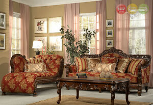 Formal Luxury Sofa Chaise Lounge Traditional Living Room Furniture Set