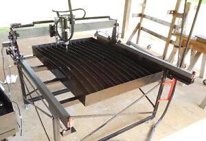 DIY Plasma CNC Table Plans Shop tools; plate marker; plasma cutter; wood routing
