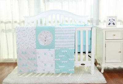 3pcs Nursery BABY  Bedding Set//BUMPER to fit Cot Bed 140 x 70cm Blue S A L E !!!