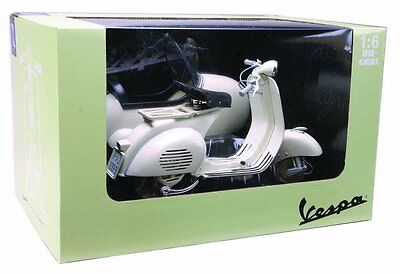 NEW RAY 1955 VESPA 150 VL 1T SCOOTER MOTORCYCLE 1/6 with SIDE CAR WHITE 48993