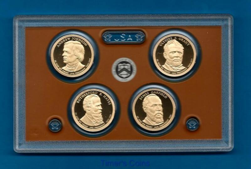 2011 S PROOF Presidential Dollar Set 4 coins-NO BOX