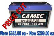 12V 120AH AGM Deep Cycle Battery - Camec Neerabup Wanneroo Area Preview