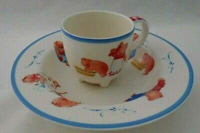 Villeroy & Boch Porcelain Three Bears 2 Piece Children's Bowl & Cup Set