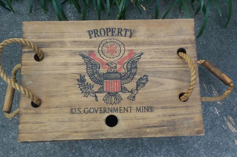 VTG US Mint 1887 Morgan Dollar Carson City Wooden Coin Crate - Wood Storage Box