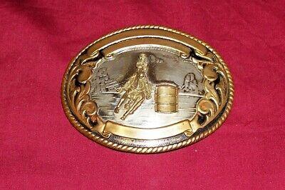 Tony Lama German Silver Western Barrel Racing Cowboy Belt Buckle Rodeo Champion
