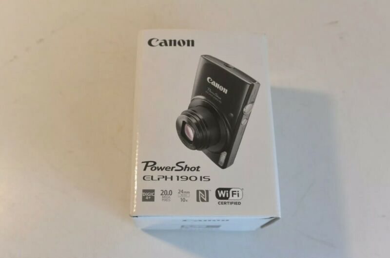 Canon PowerShot ELPH 190 IS 20.0 MP Digital Camera - Black