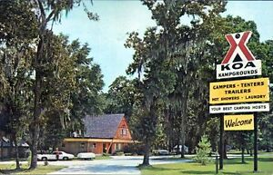 LAKE PARK GA 1968 Florida-Georgia KOA Kampgrounds VINTAGE GEORGIA GEM+++