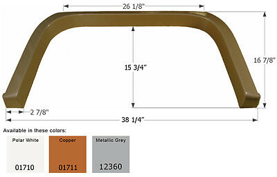 Coachmen Single RV Fender Skirt FS1710, Polar White