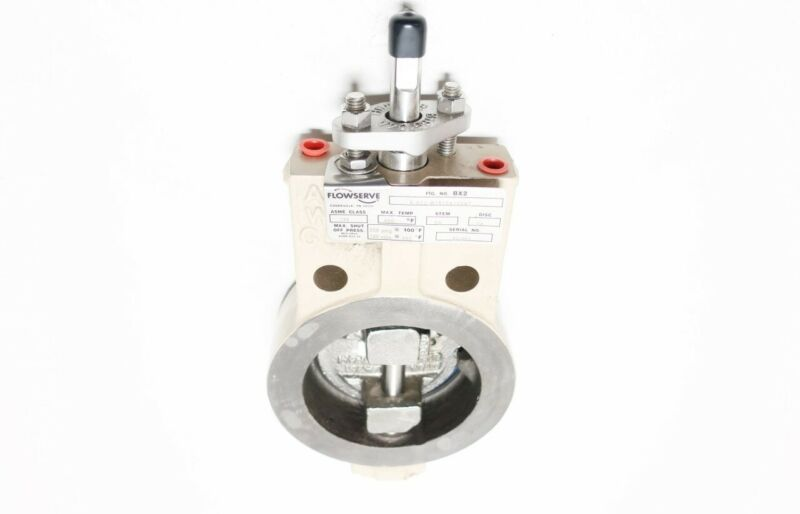 Flowserve 4-BX2-W181SA1V9N7 Butterfly Valve Steel 150 Stainless Wafer 4in