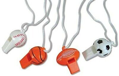 Football Noise Makers (6 Sports Whistles  Football,Soccer Basketball Baseball  Party Noisemakers)