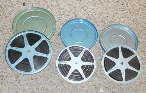Vintage 8mm ~ Lot Of 3 Color Home Movies. 400 & 300 FT reels