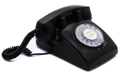 Opis 60s cable mit Deutsche-Post-Einleger: Retrotelefon mit Wählscheibe schwarz