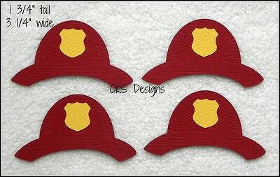 Die Cut Fireman Hats Firefighter Fire Scrapbook Embellishment Paper Piecing CKS - Fireman Hat Craft
