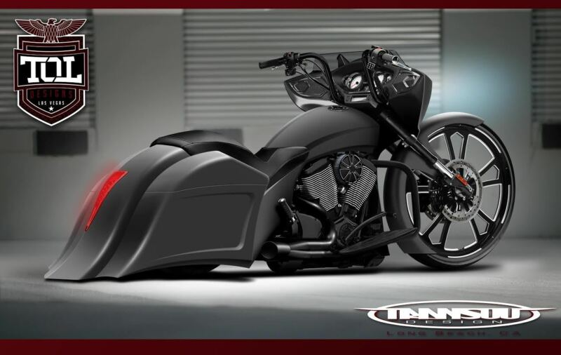 Victory Cross Country Stretched Saddlebags And Fender Kit Skyotic Customs