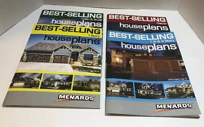 Best-Selling House Plans Books Cabin 1, 2 Story Deluxe Lot Of