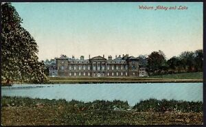 Postcard - Bedfordshire - Woburn Abbey and Lake