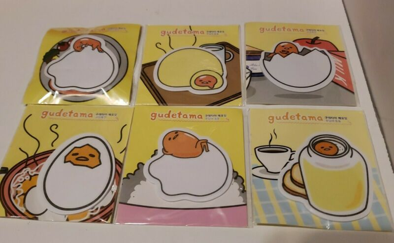 🥚🥓 Gudetama Sanrio Lazy Egg Sticky Notes 🌎 US SELLER!! FAST SHIPPING!!! 🥚🥓
