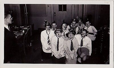 Antique Photograph People in Crazy Costumes Halloween? Classroom? - Classroom Halloween Costumes