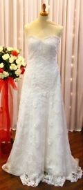 Ivory Lace Wedding Dress – Mermaid/Trumpet Style – Size 16 – BRAND NEW