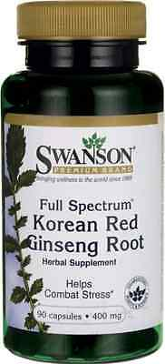 Swanson Korean Red Panax Ginseng Root / ENERGY ENDURANCE SUPPLEMENT/ 90 Capsules