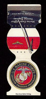 U. S. MARINE CORPS OFFICER TRAINING PROGRAMS MATCHBOX LABEL ANNI '50 TOBACCIANA