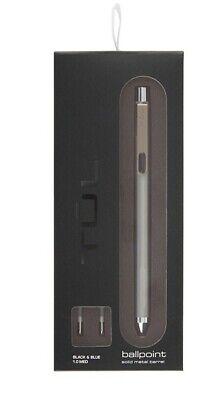 Tul Pro Solid Metal Barrel Ballpoint Pen Medium Point 1.0 Mm 2 Refills New
