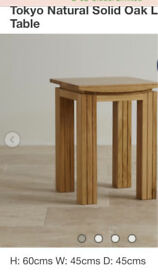 Tokyo solid oak lamp table