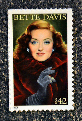 Legends Single - 2008USA #4350 42c Bette Davis - Legends of Hollywood - Mint NH Single Postage