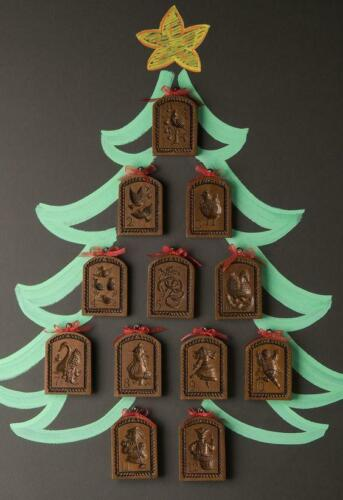 House on the Hill 12 Days of Christmas Springerle Cookie Mold Cutter FULL Set