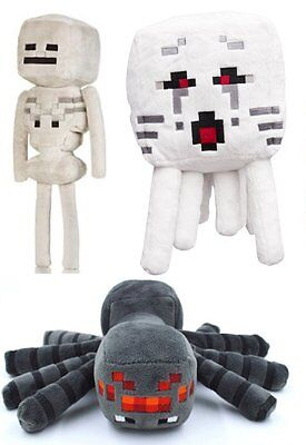Minecraft Set Of 3   Ghast  Skeleton  Spider Plush Toy   Free Fast Usa Shipping