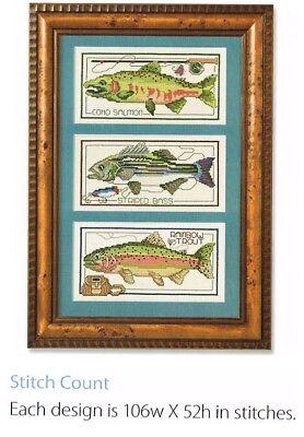 A TALE OF THREE FISH   - CROSS STITCH PATTERN ONLY (1a)