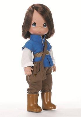 "Precious Moments Disney Classic Flynn Rider Tangled Rapunzel 12"" Doll #4823"