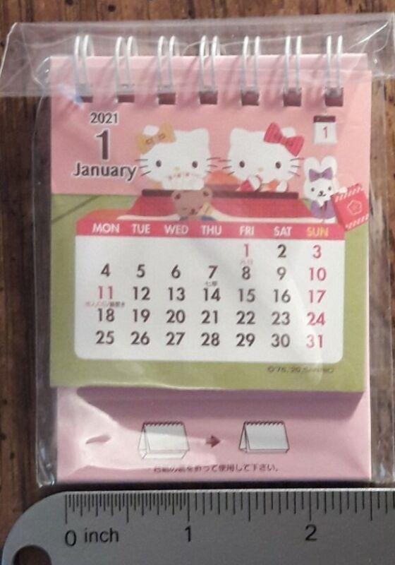 Sanrio -Hello Kitty cute mini desk calendar 2021 - RARE - NEW