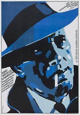 THE BIG SLEEP Movie POSTER 27x40 Polish Humphrey Bogart Lauren Bacall John