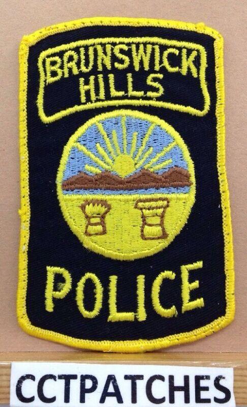 BRUNSWICK HILLS, OHIO POLICE SHOULDER PATCH OH