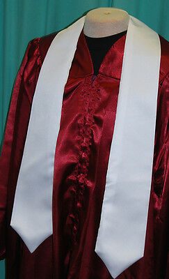 V Stola Kirchenchor Chor Gospelchor Chorrobe Robe weiß