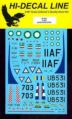 Used, Hi Decals 1/48 LOCKHEED T-33A SHOOTING STAR for sale  USA