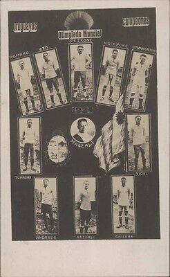 SOCCER OLYMPICS URUGUAYOS CAMPEONES FULL CHAMPION  TEAM 1924 MULTIPLE VIEW PHOTO