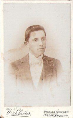 CDV Foto Herrenportrait - Dresden / Pulsnitz 1890er