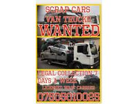 SCRAP CARS VANS TRUCKS WANTED