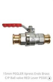 Brass Pegler Xpress PS500 Ball Valve 15mm