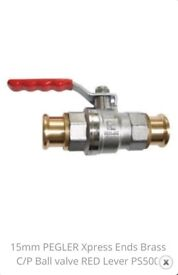 Brass Pegler Xpress PS500 Ball Valve 22mm