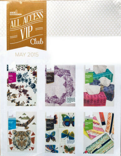 All Access VIP MAY 2015 Anita Goodesign Machine Embroidery Designs CD