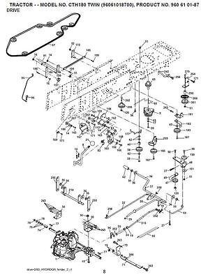 Husqvarna Transmission Drive Belt Kev CTH192 CTH2036