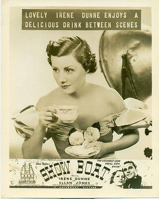 IRENE DUNNE Show Boat Orig 1936 Advertising Photo Delicious Drink Between Scenes