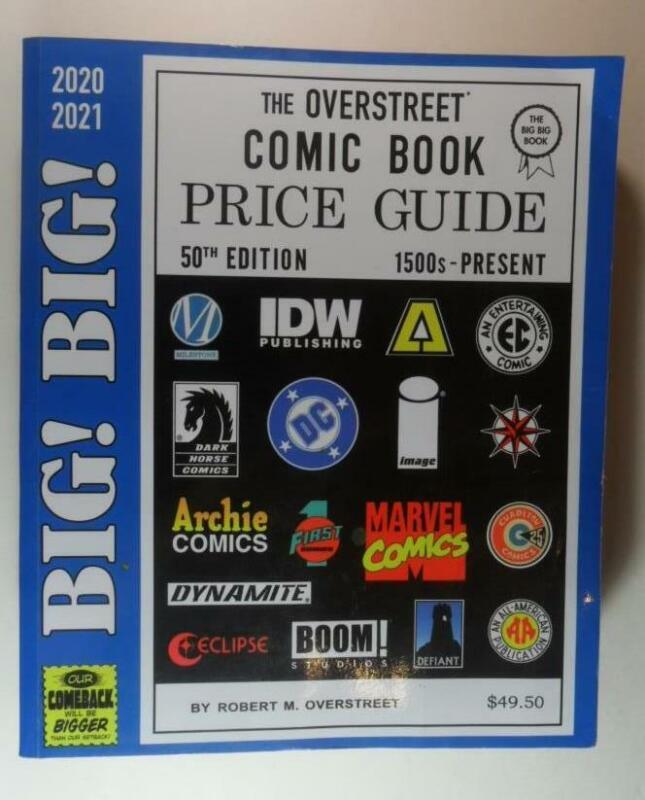BIG BIG OVERSTREET PRICE GUIDE #50 2020 2021 COMIC BOOKS USED SOFT COVER