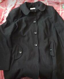 Women's size 18 black wool coat