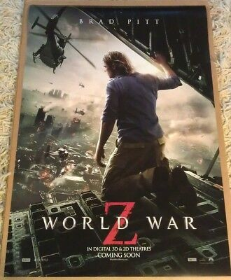 WORLD WAR Z MOVIE POSTER 2 Sided ORIGINAL INTL 27x40 BRAD PITT - World Z
